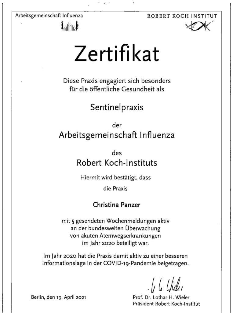 Auszeichnung Robert-Koch-Institut